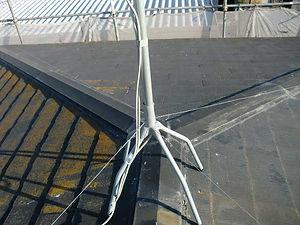 屋根葺き替え工事の施工例(施工前)
