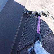 カラーベスト屋根塗装の施工の流れ(棟釘浮き 補修)