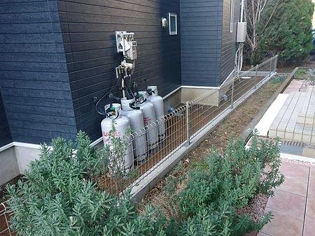 フェンス設置の施工例(施工前)