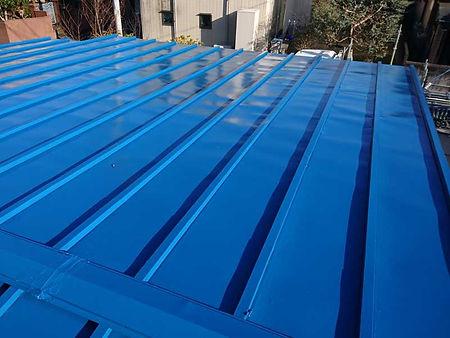 トタン屋根塗装の施工例(施工後)