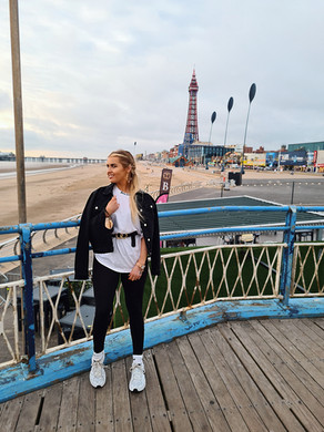 Easy style. Make your basics look more on trend with a white oversized tee, chunky trainers and a denim jacket over your shoulders as opposed to on your arms!