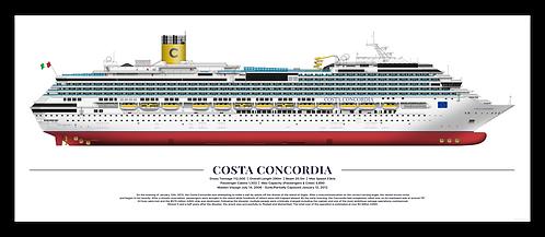 """Costa Concordia Print 12x30"""""""