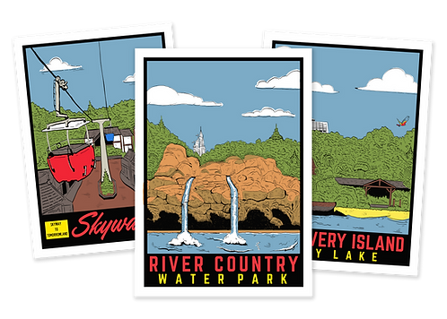 Set of all 3 Postcards