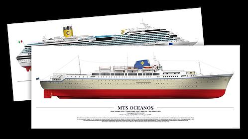 """Set of Costa Concordia & Oceanos 12x30"""""""