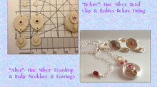 Getting Fired Up: How I Made Ruby Teardrop Pendant & Earrings in Silver & Gold by Andrea Davies