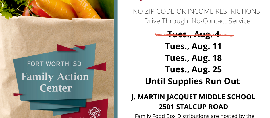 FWISD Family Food Box Distributions