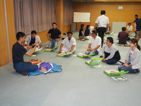 9月30日地域活性委員会主催第2回定例会「救命講習」開催されました