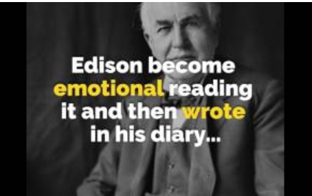 How Thomas Edison's Mother brought out the genius he had inside him!