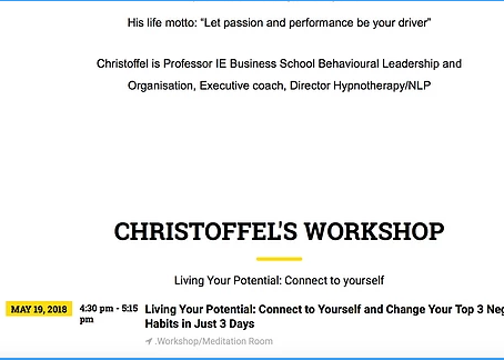 Living Well exhibition living your potential workshop