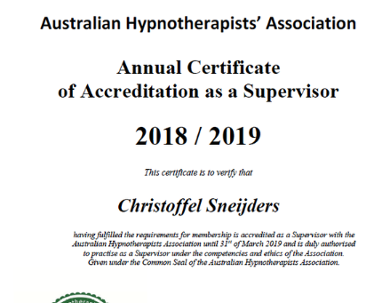 After 3 years unofficial now finally official:  Supervisor
