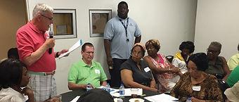 Neighbors participating in Neighborhood Plus meeting