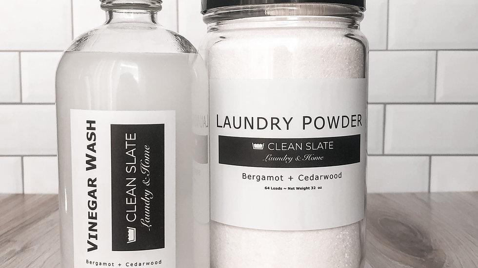 Laundry Powder + Vinegar Wash Set