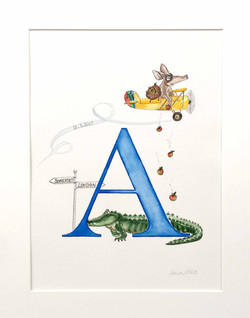 A for Ardvark, Alligator, Airplane and Apples