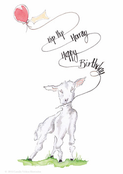 Baa Birthday Cards