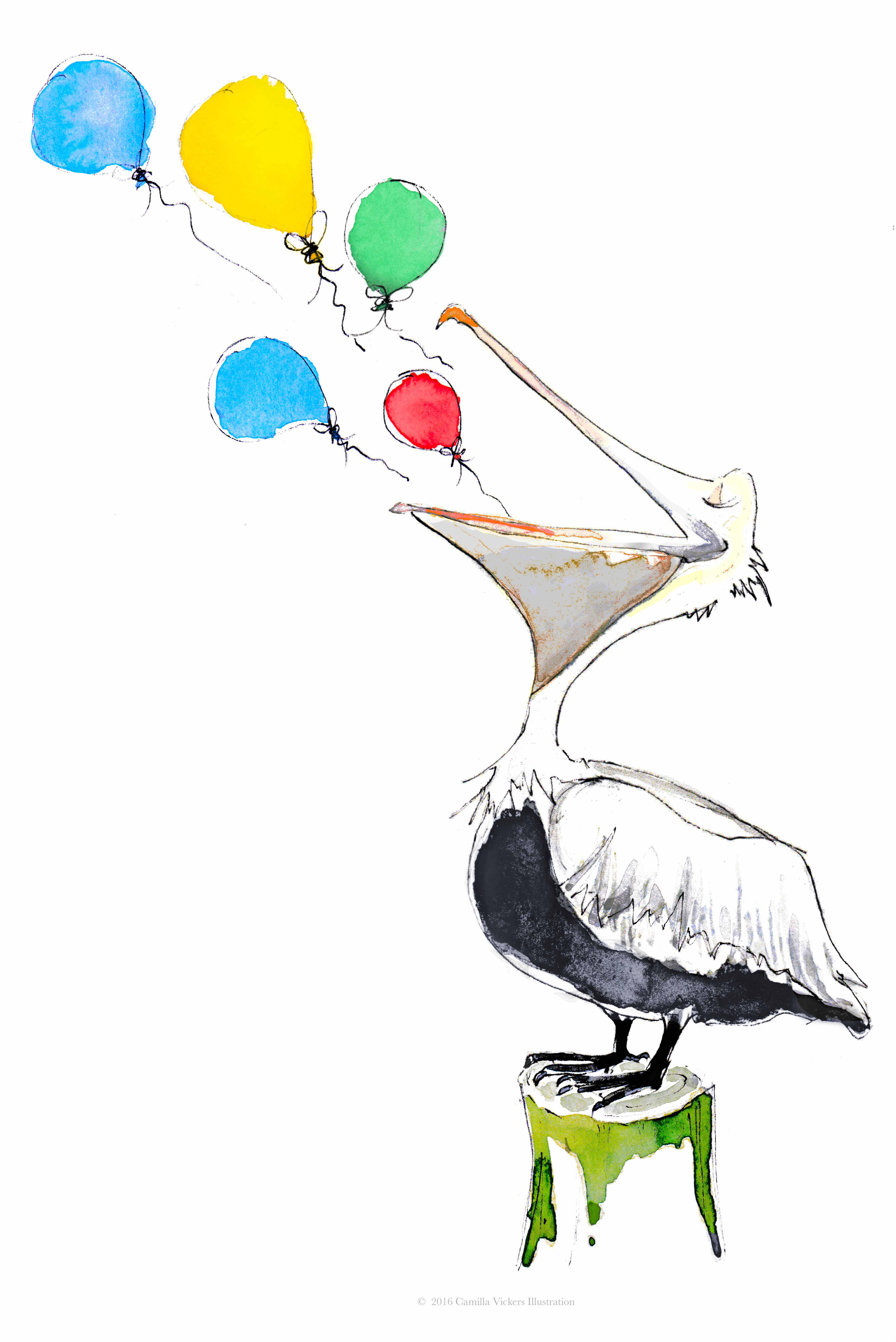 Percy the party Pelican