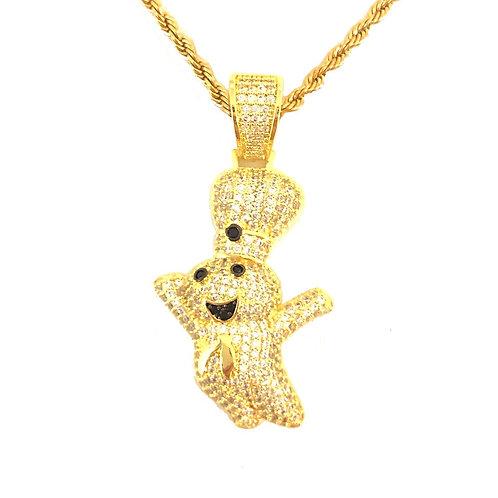 PHILSBURY DOUGHBOY MICROPAVE CZ PENDANT GOLD