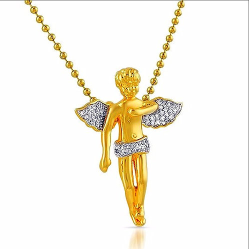 ICED SMALL ANGEL PIECE GOLD