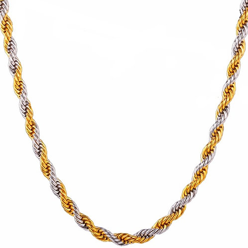 ROPE CHAIN  3MM/4MM TWO TONE