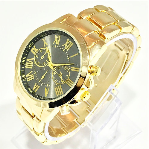 ROMAN NUMBERAL POLISHED CHRONOGRAPH STYLE WATCH
