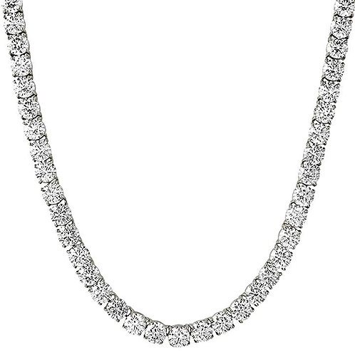 115 CARAT 6MM LAB MADE DIAMONDS HIGH POLISHED TENNIS CHAIN