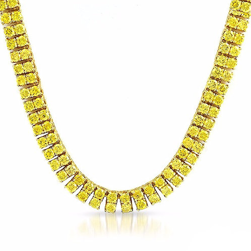 2 ROW LAB MADE DIAMOND TENNIS CHAIN LEMONADE