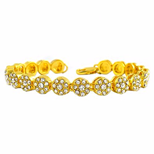 1 ROW ICED OUT CLUSTER GOLD