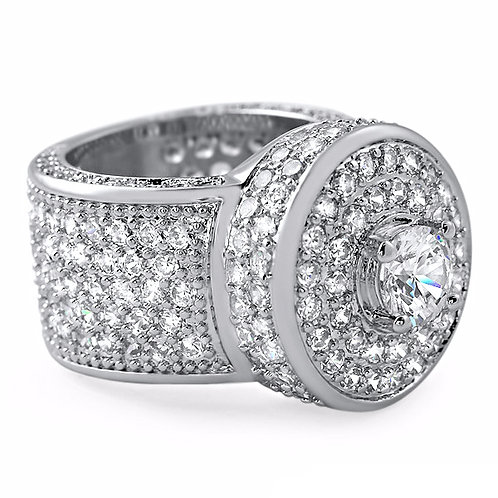 BLIZZARD ICED OUT CLEAR CZ PLATINUM