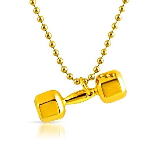 DUMBELL PENDANT GOLD