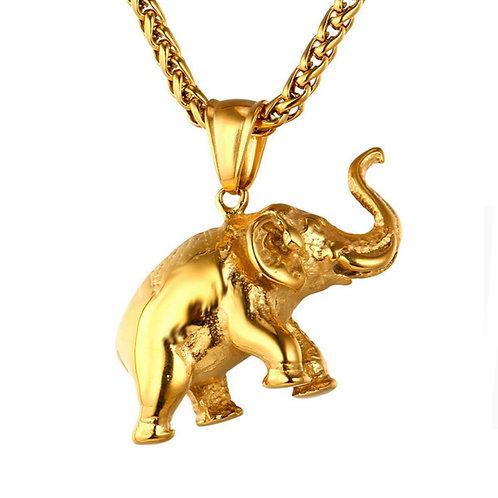 ELEPHANT CHARM NECKLACE SET