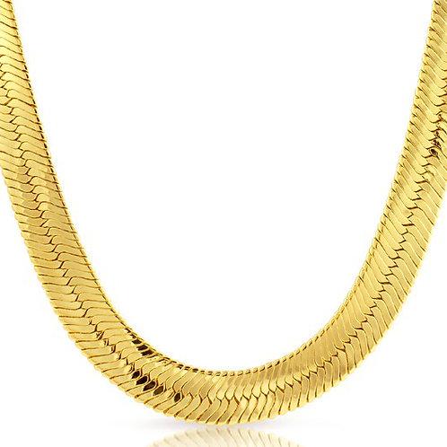 HERRINGBONE 14MM GOLD