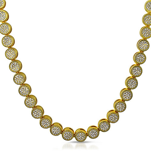 PAVE FLOWER GOLD