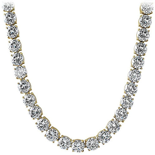 10MM VVS FLAWLESS ICED OUT HIGH POLISHED TENNIS CHAIN GOLD