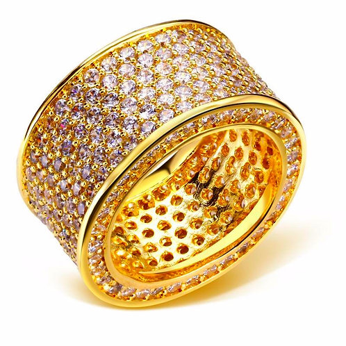 6 ROW CZ 360 DEGREES ICED OUT GOLD