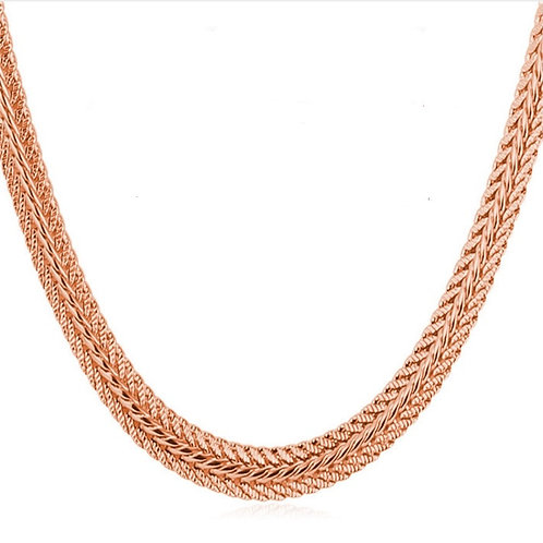 UNIQUE SNAKE 6MM CHAIN STYLE #2 ROSE GOLD