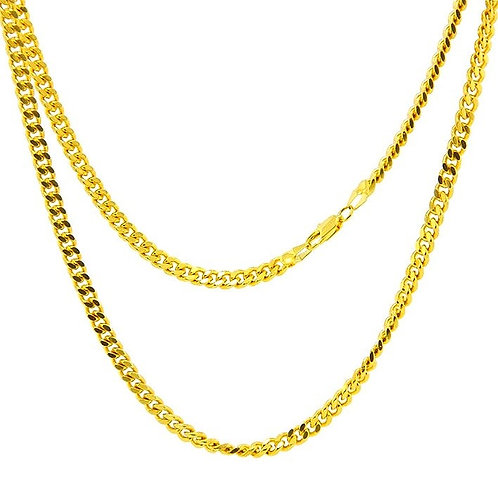 HIGH POLISHED CUBAN LINK 2MM CHAIN GOLD
