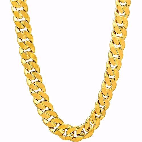 CONCAVE CUBAN 10MM CHAIN GOLD