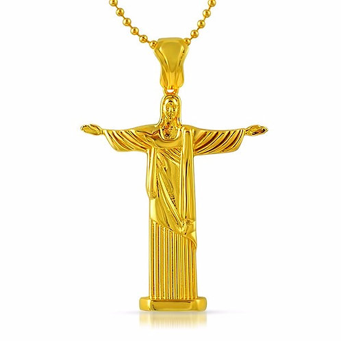 JESUS CHRIST FULL BODY PENDANT GOLD