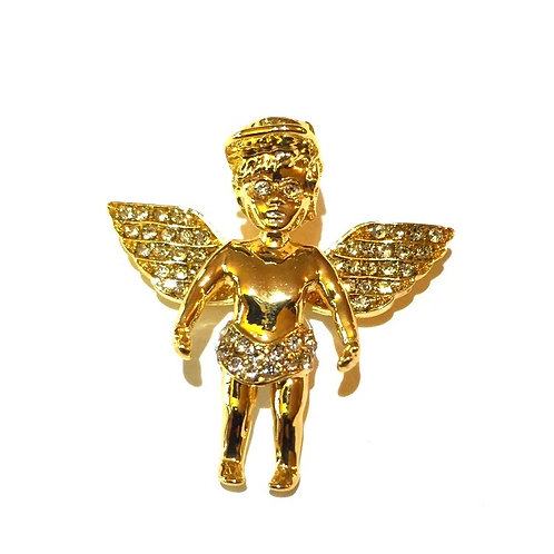 MINI ANGEL WITH HAT GOLD PENDANT