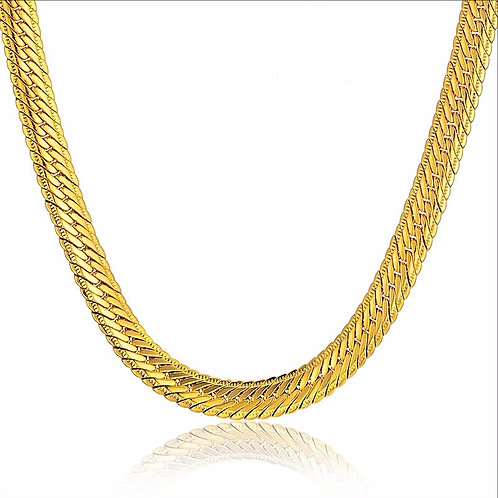 UNIQUE SNAKE HERRINGBONE 8MM CHAIN GOLD