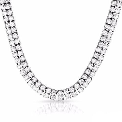 2 ROW LAB MADE DIAMOND TENNIS CHAIN PLATINUM