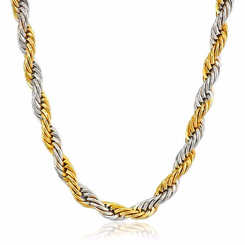 ROPE 6MM CHAIN CHAIN TWO TONE