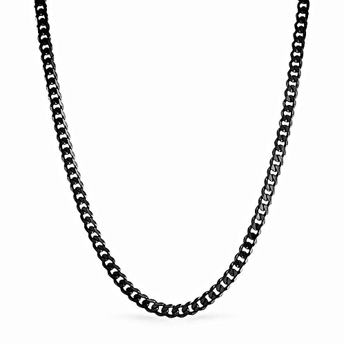 CRUCIBLE POLISHED CUBAN CHAIN 4MM IP BLACK