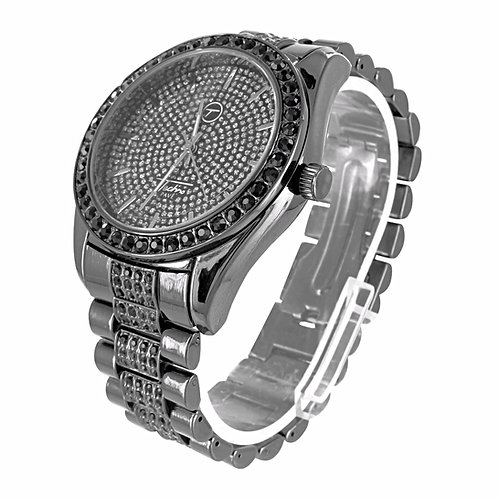 TECHNO PAVE ICE KING MICRO PAVED WATCH BLACK