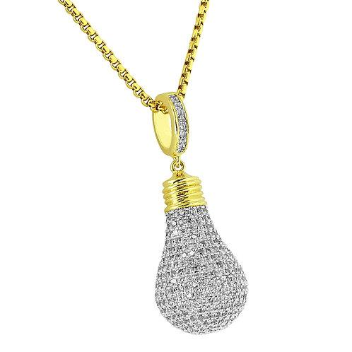 LIGHT BULB LAB MADE DIAMONDS PENDANT