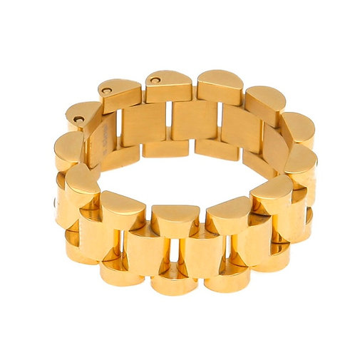 PRESIDENTIAL LINK RING GOLD