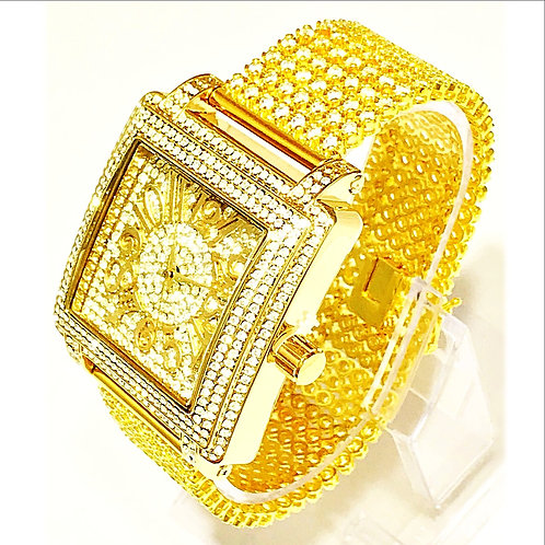 SQUARE CZ WATCH GOLD