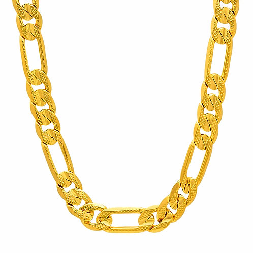 DIAMOND CUT FIGARO 8MM/10MM/11MM/12MM GOLD