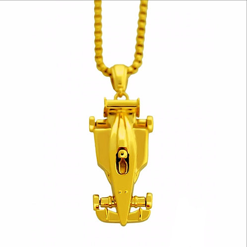 ORO COLLECTION F1 RACING CAR PENDANT& NECKLACE SET