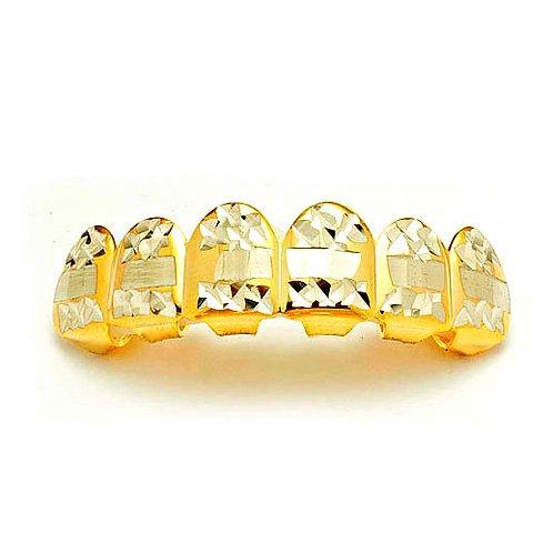 DIAMOND CUT TOP GRILLZ GOLD