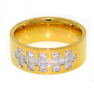 DESIGNER STYLE HIGH POLISHED RING GOLD